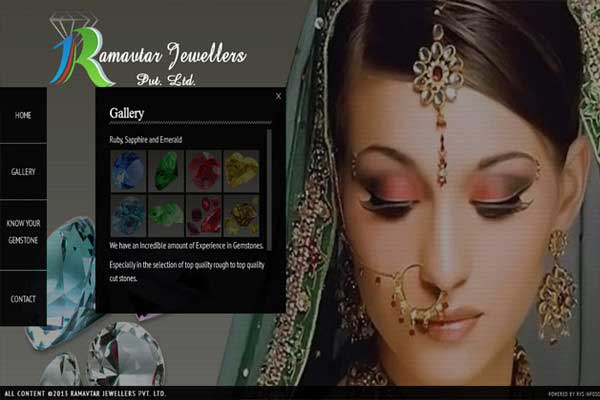 Ram Avtar Jewellers - Responsive Website Design Services Delhi