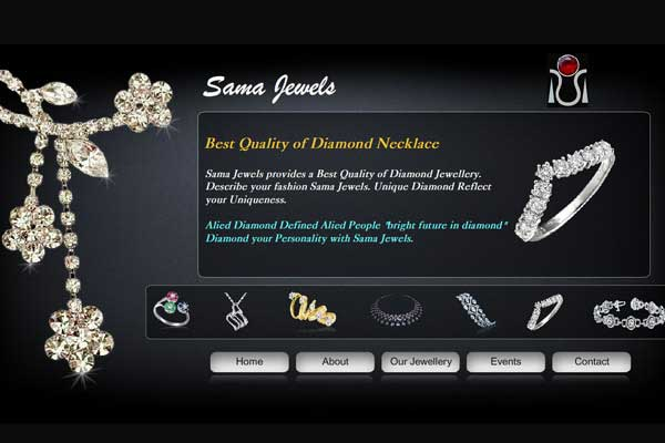 Sama Jewellers - Mobile Friendly Website Design & Development